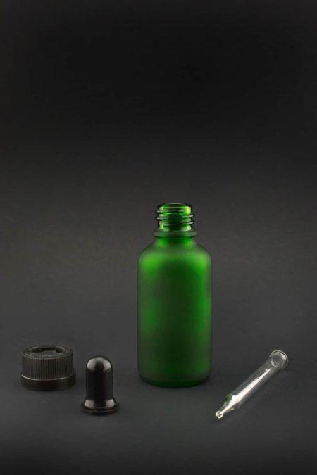 30 ml grün frosted glas