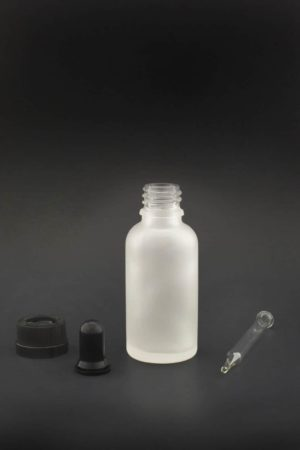 30 ml weiss frosted glas