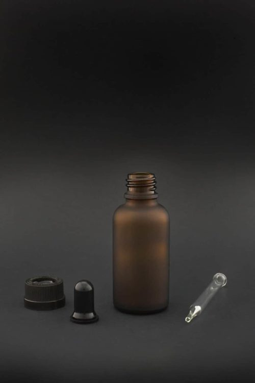 30 ml brown glass frosted