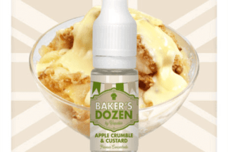 Apple Crumble & Custard The Bakers Dozen