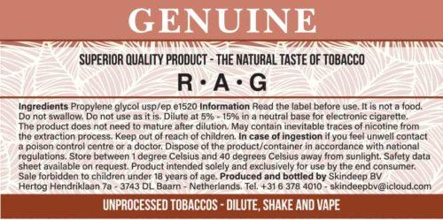 Estratto di tabacco di pezza genuino